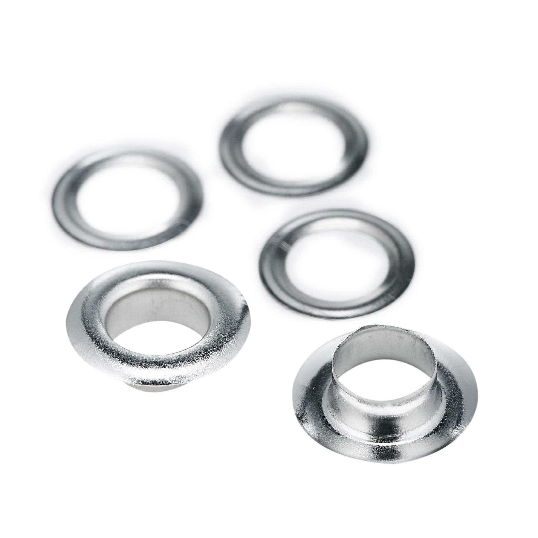 Pinty 1000 Grommets + 1000 Washers - Nickel Finish - #2 Size, 3/8'' Eyelets by Pinty (Image #7)