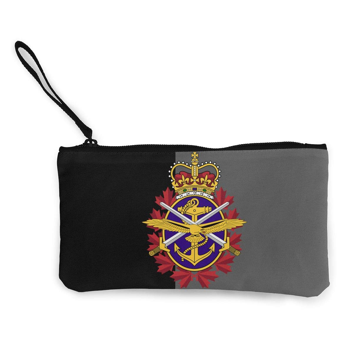 Canadian Armed Forces Unisex Canvas Coin Purse Wallet Coin Purse Canvas Zipper Wallet