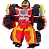 "PLAYSKOOL Heroes - Transformers - 10"" Hot Shot Rescue Bot - Action Figure - Offroad Vehicle with Lights & Sounds - Kids…"