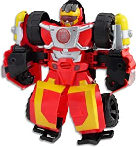 """PLAYSKOOL Heroes - Transformers - 10"""" Hot Shot Rescue Bot - Action Figure - Offroad Vehicle with Lights & Sounds - Kids Toys - Ages 3+"""
