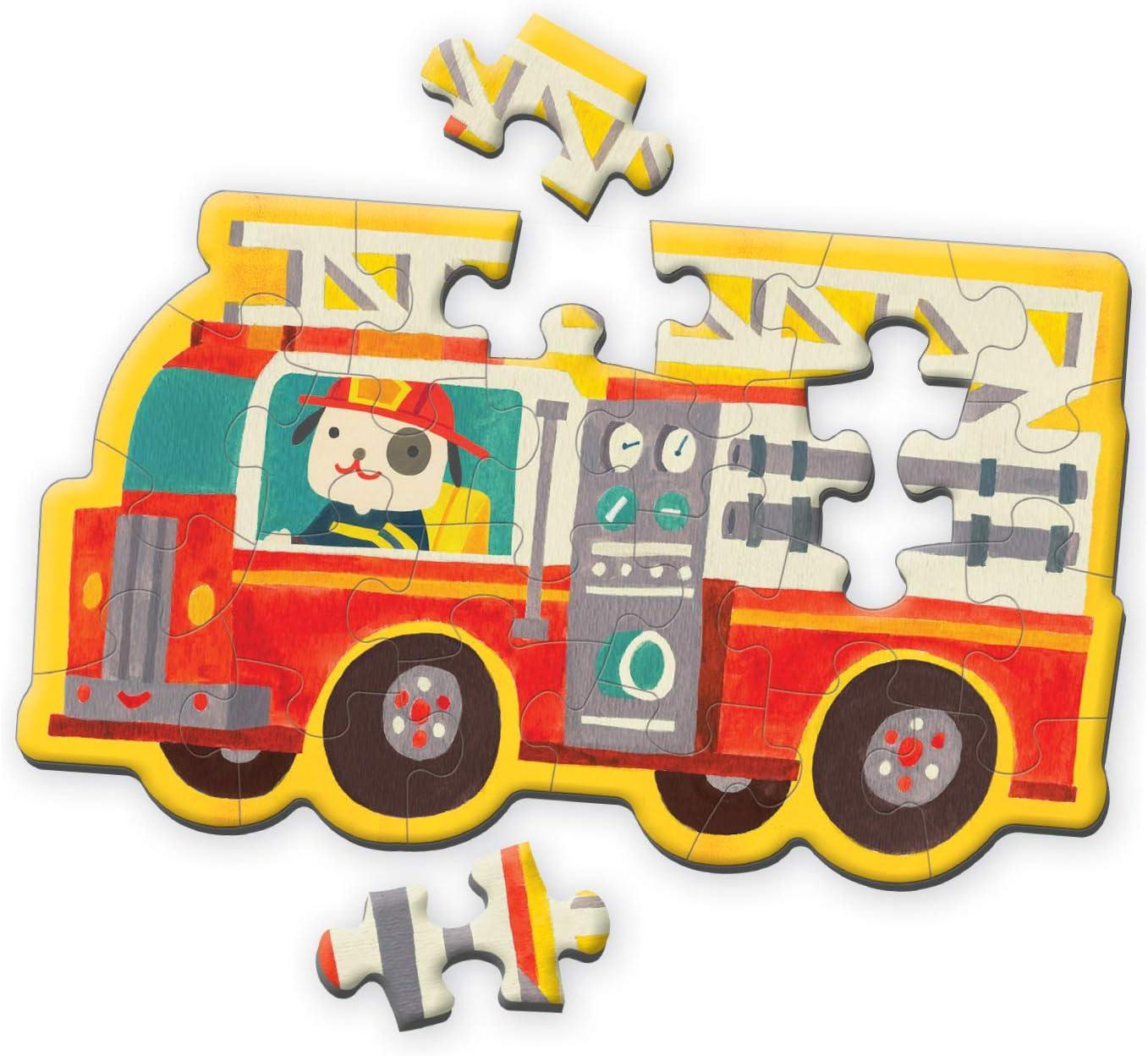 Makes a Great Gift Idea Mudpuppy Fire Truck Shaped Mini Puzzle ...