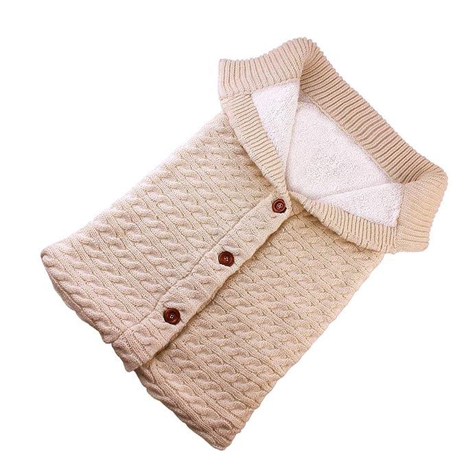 Bebé recién Nacido Swaddle Wrap Manta de Punto Grueso Suave y cálido Saco de Dormir de
