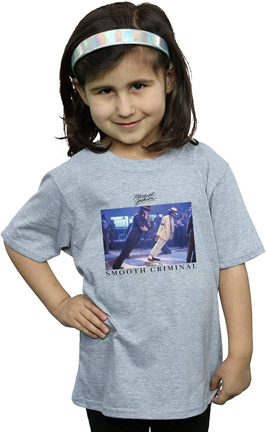 Absolute Cult Michael Jackson Fille Smooth Criminal Lean T-Shirt