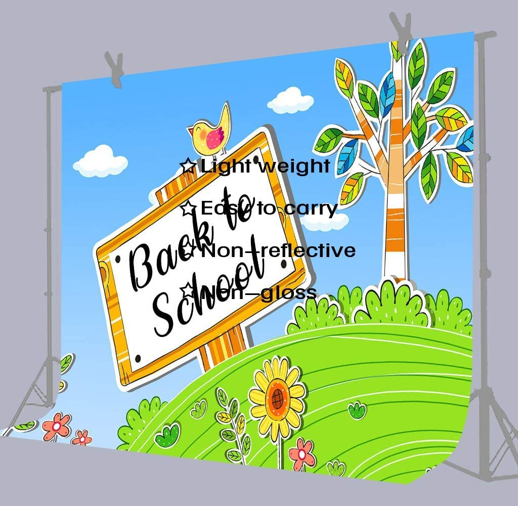 10x8ft Background Back to School Photography Backdrop Photo Props for Baby Kids LYFU333