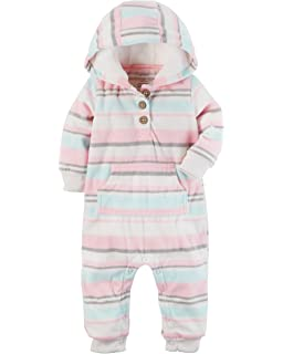 f6bea5fc3f Amazon.com  Carter s Baby Girls  1 Piece Footies and Rompers  Clothing