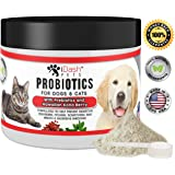 Advanced Probiotics for Dogs and Cats by iDash Pets- Best Natural Powder Pet Probiotic Supplement- Relieves Dog Bad Breath, Constipation, Skin Allergies, Diarrhea- Aids Digestive Health - Organic 6 oz