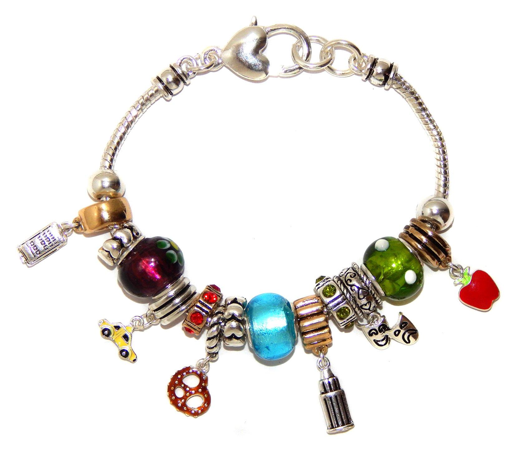 Landau Ambrosia New York Theme Charm Bracelet
