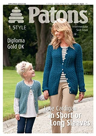 Amazon Lace Cardigan In Patons Diploma Gold Dk 3829 Knitting