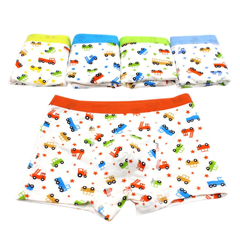 5 Pack Boys Cute Cartoon Knickers Boxers Briefs Underwear Shorts Boyshort