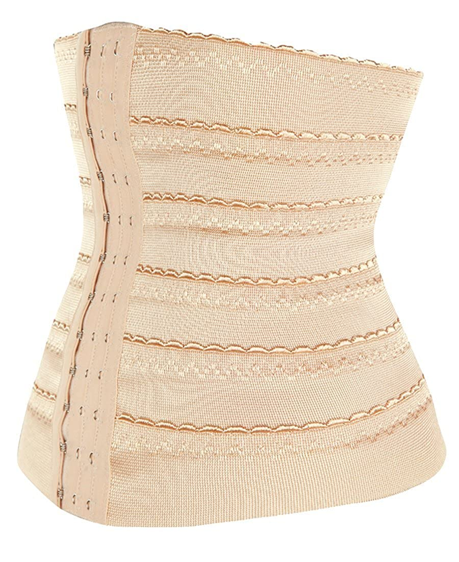 134bcc1e266 Amazon.com  Focussexy Women Boneless Girdle Waist Cincher Body Shaper Belt   Clothing