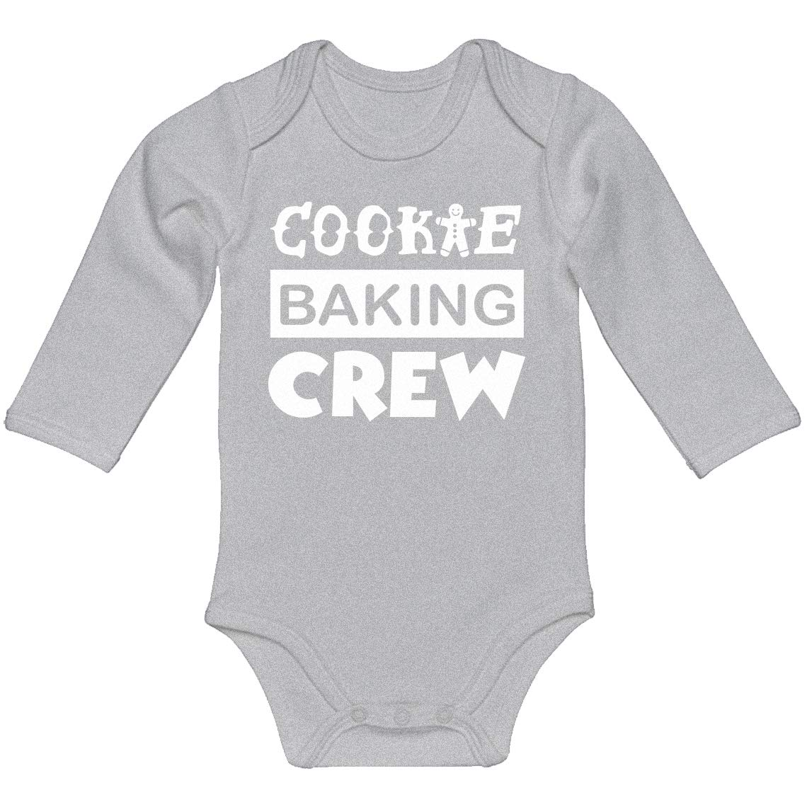 Indica Plateau Baby Onesie Cookie Baking Crew 100/% Cotton Long Sleeve Infant Bodysuit