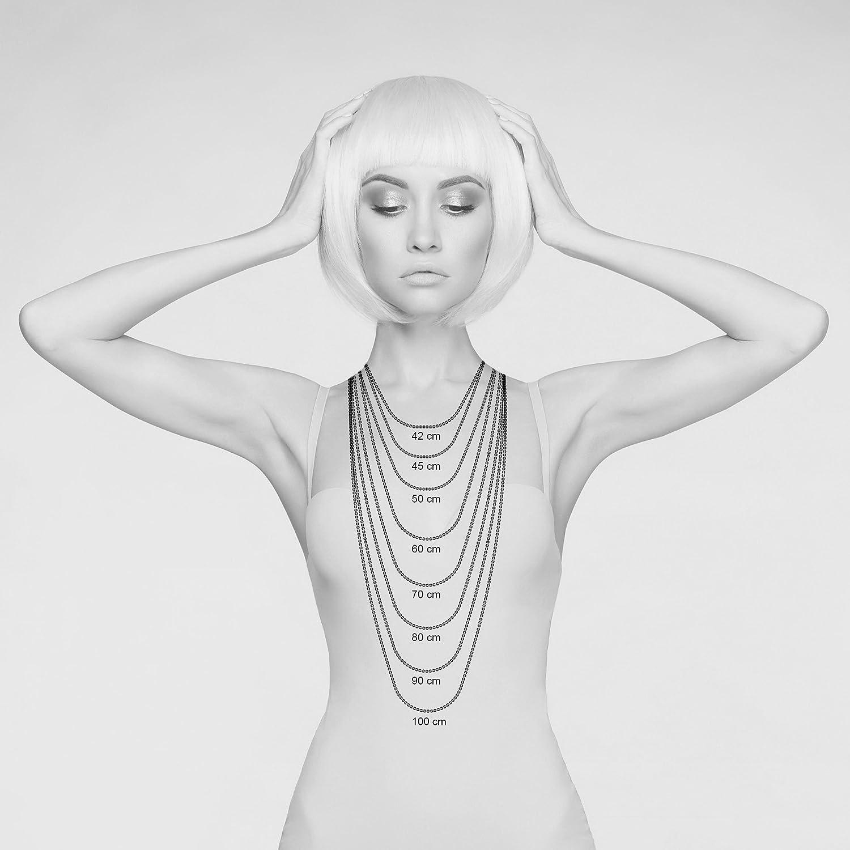 L/änge 42 cm-100 cm Silberkette ohne Anh/änger 101032-0 Avesano Damen Halskette Ankerkette Weitankerkette 2,7 mm breit in 925 Sterling Silber Kettchen Schmuck Collier Kette