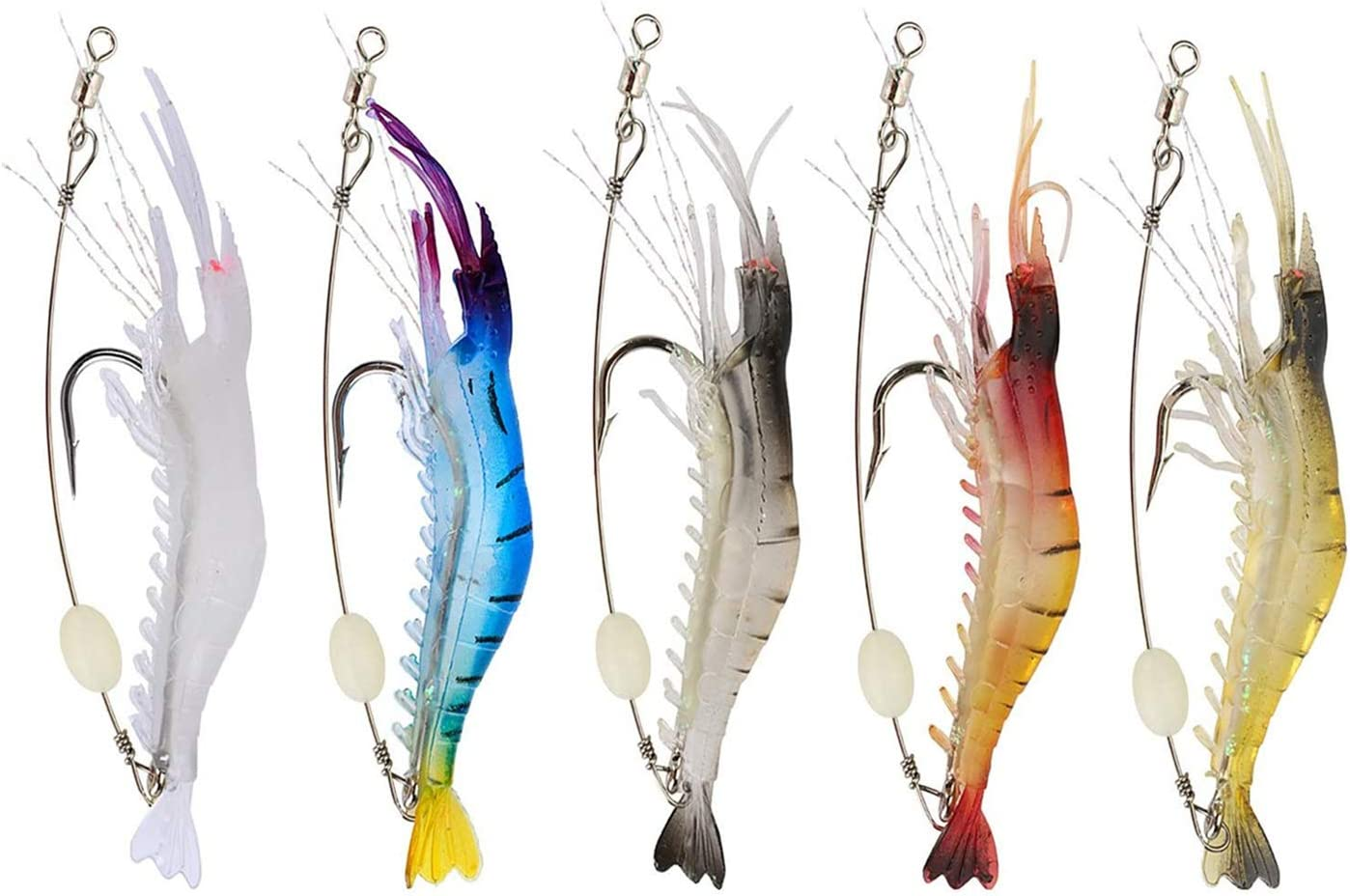 """5x 2.5/"""" Grubs Tentacles Soft Plastic Lure Fishing Tackle Bait"""