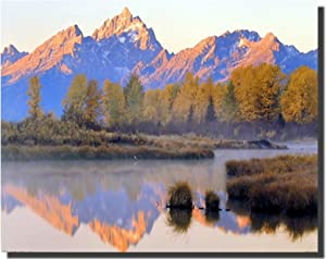 Landscape Wall Decor Poster Grand Teton National Park Mountain Lake Scenery Art Print Picture (16x20)