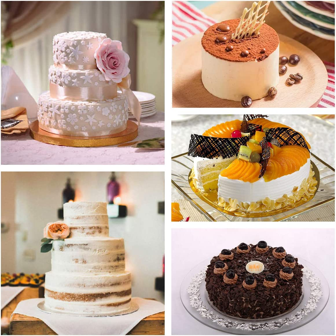 12Pcs Silicone Round Chiffon Cake Mold Silicone Chiffon Dessert Baking Tool