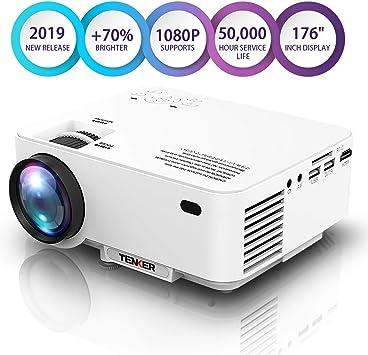TENKER T20 2000 Lúmenes Mini Proyector LCD, Proyector De Cine En ...