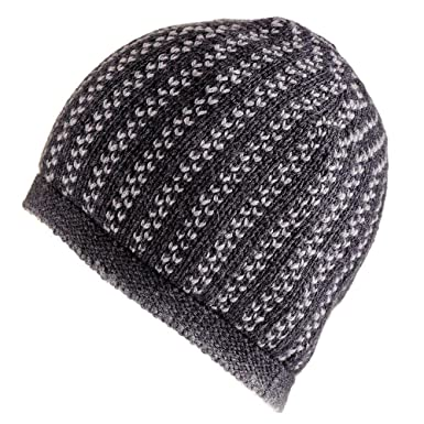 6a1a5f08d43 Charcoal and Light Grey Cashmere Beanie  Amazon.co.uk  Clothing