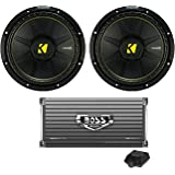 "2) New Kicker 44CWCS104 10"" 1000W Car Audio Power Subwoofers + 1600W Amplifier"