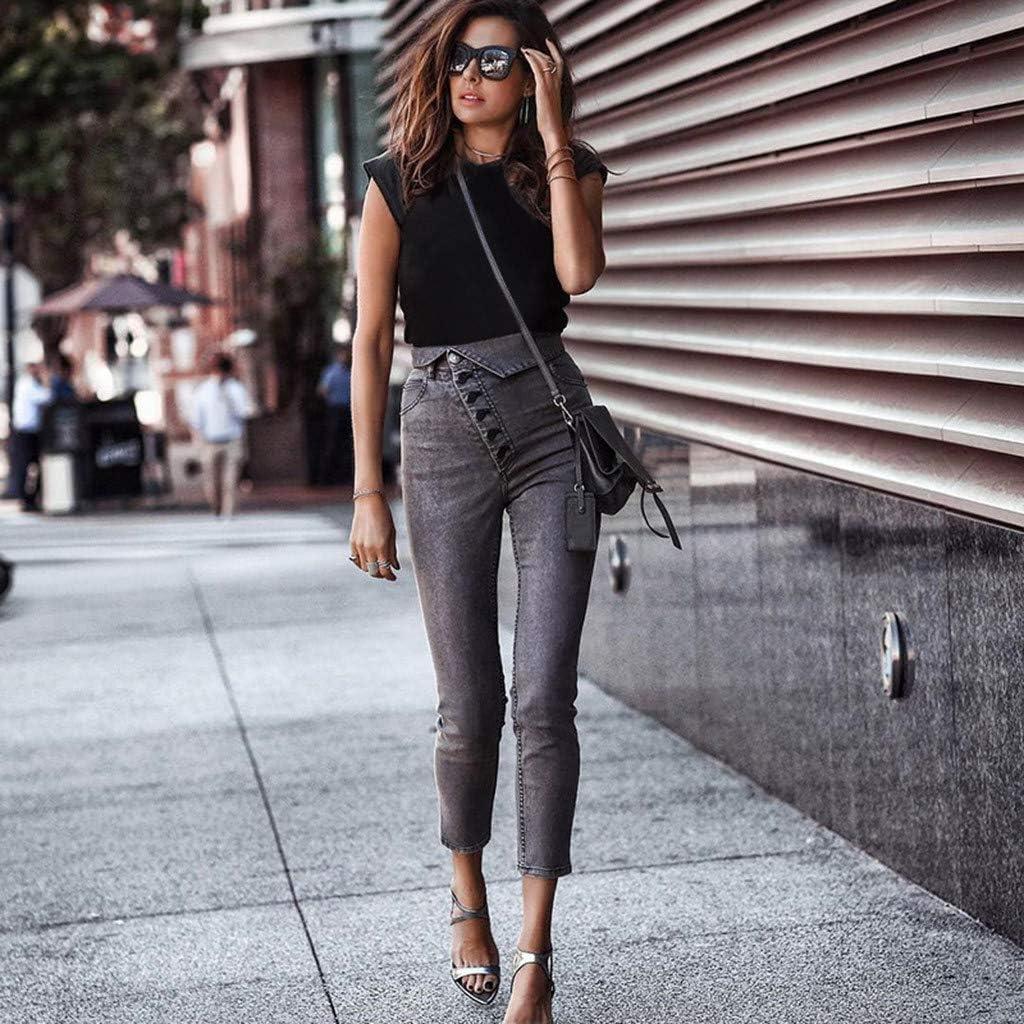 Jeans Mujer Verano, MINXINWY Jeggings Mezclilla Talle Alto ...