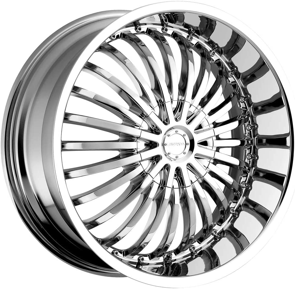 Strada Spina 20 Chrome Wheel Rim 5x115 /& 5x120 with a 15mm Offset and a 74.1 Hub Bore Partnumber S16050115