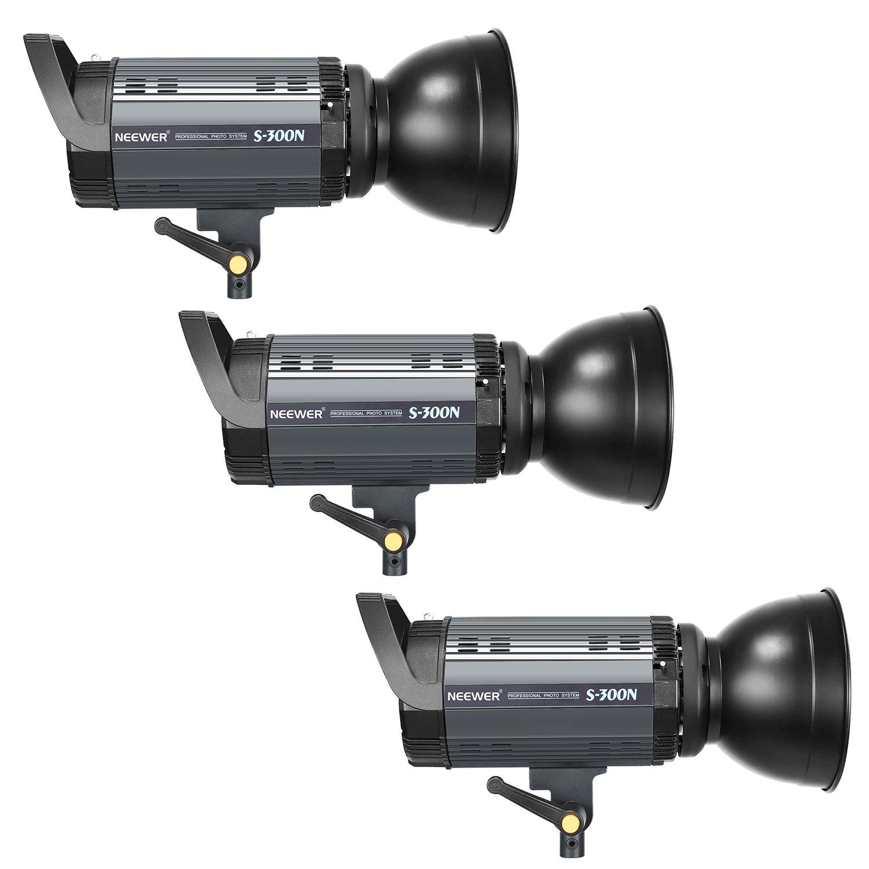 3 Soporte de Luz, Difusor, S-300N RT-16 Disparador, 3 1 Reflector, 300W Monolight, 3 Bolsa para Montura Bowens 3 1 Neewer 900W Estudio Flash Estrobosc/ópico Fotograf/ía Iluminaci/ón Kit: