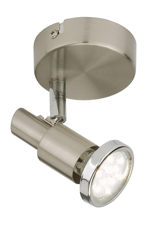 2 luci 3 W Briloner Leuchten Applique//Plafoniera con Faretti GU10 Nickel Satinato