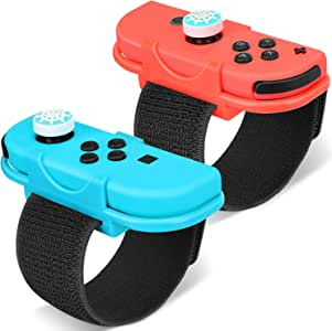 Just Dance 2020 Adjustable Premium Elastic Wrist Bands, Soft Elastic Wrist Bands for Just Dance 2020 Wii/Just Dance 2019/2018/2017/2016 Nintendo Switch Game, Two Size for Adults and Children-2 Pack