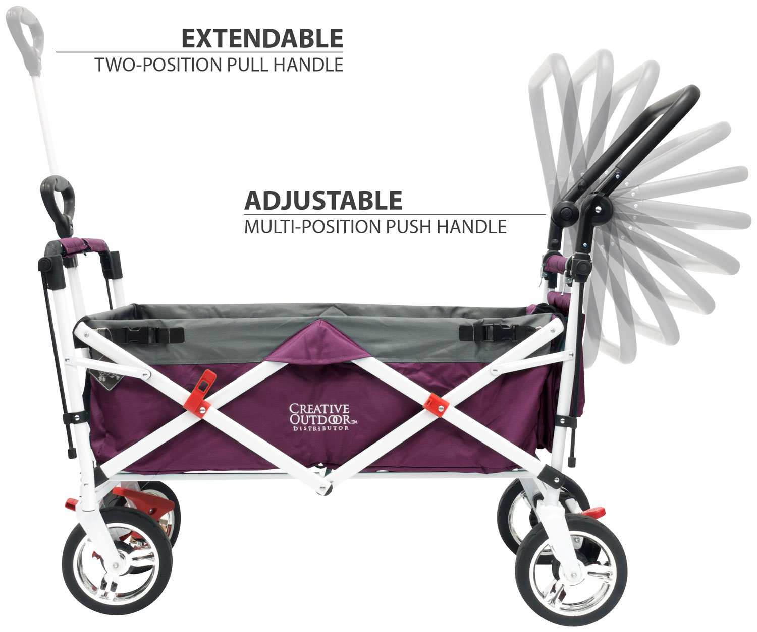 Creative Outdoor Push Pull Collapsible Folding Wagon Stroller