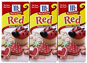 Amazon.com : McCormick Red Food Color - 1 oz - 3 pk : Grocery ...
