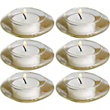 Biedermann & Sons Floating Glass Tealight Candle Holders, Box of 6