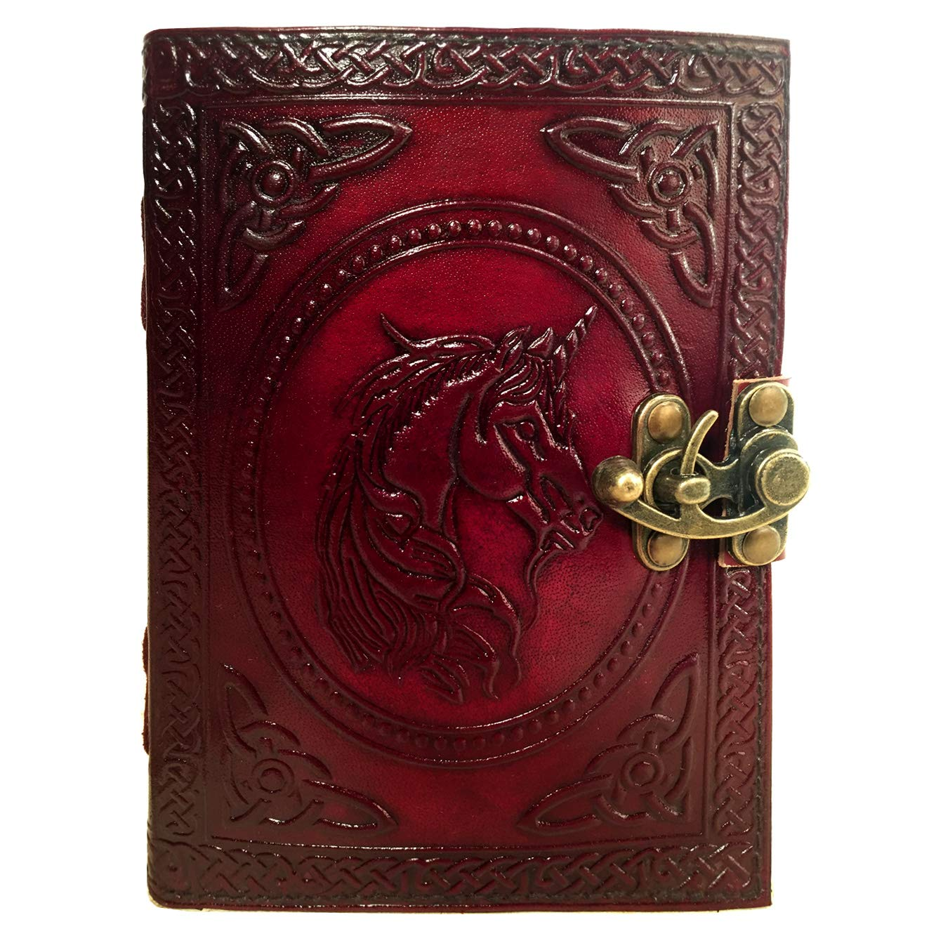 Leather Journal Book Unicorn Embossed Notebook Handmade Book of Shadows Handbook Blank Unlined Paper Office Diary College Book Poetry Book Sketch Book 5 x 7 Inches