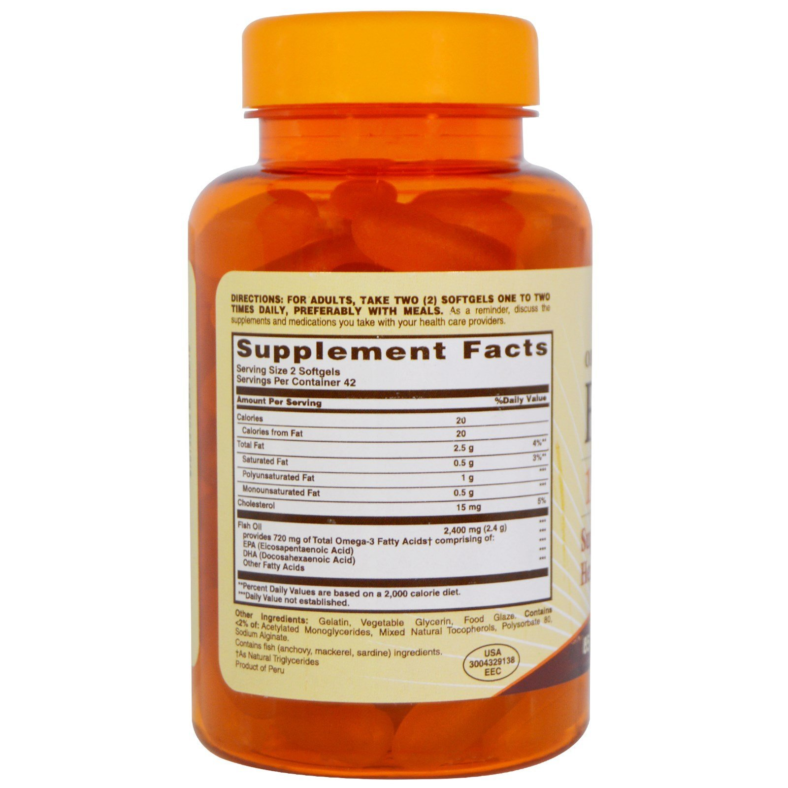Galleon nature made one a day fish oil 1200mg 120 count for Prn fish oil