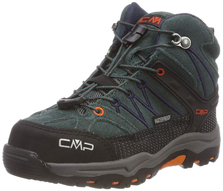 CMP 77bn) Unisex-Erwachsene Rigel Mid WP Trekking-& Wanderstiefel Schwarz (Jungle-b.Blau 77bn) CMP 37189b