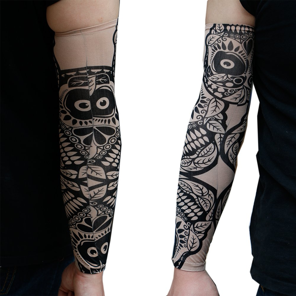 4pk Tattoo Elastic Arm Sleeves Cooling Athletic Sport Skins Sun Protective Gear Tattoo Sleeves
