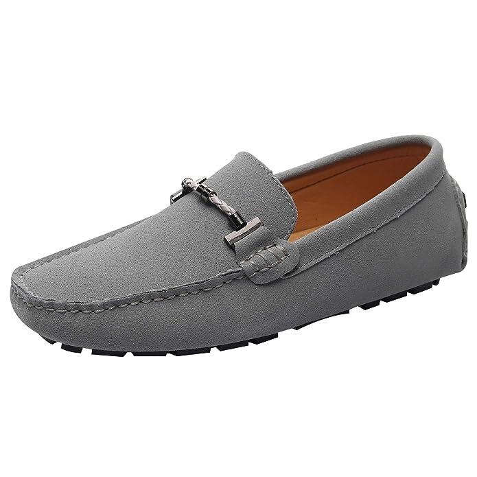 Jamron Hombres Elegante Hebilla Mocasines Comodidad Ante Zapatos de Conducir Estiloso Pantuflas: Amazon.es: Zapatos y complementos