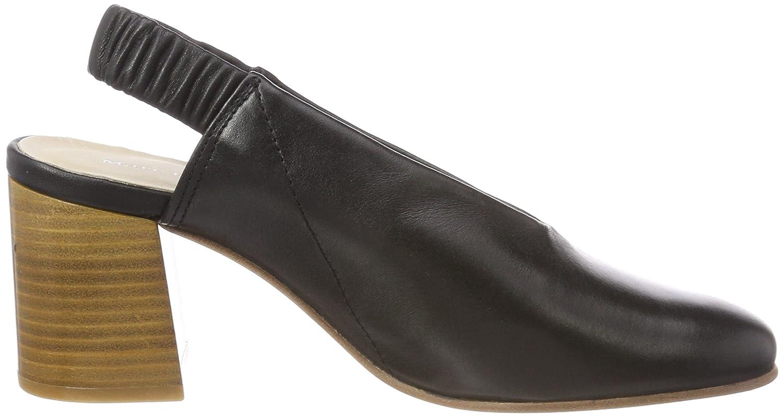 Marc O'Polo Damen Mid Heel Sling 80214392002101 Slingback Pumps, Schwarz (Black), 36 EU