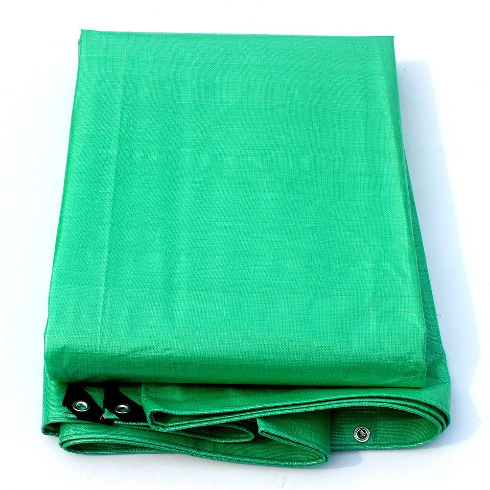 WUFENG オーニング 光 耐寒性 防水 日焼け止め 厚い プラスチック 耐摩耗性 環境を守ること 無味 厚さ0.25mm 180g/M2 (色 : 緑, サイズ さいず : 8x12m) B07DCRYMBD 8x12m|緑