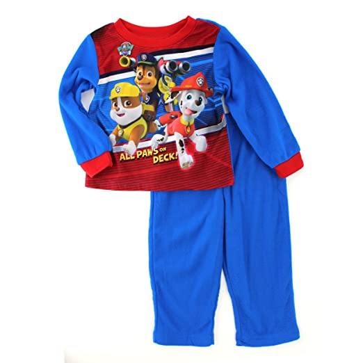 Paw Patrol Baby Boys Red Flannel Pajamas (24M)