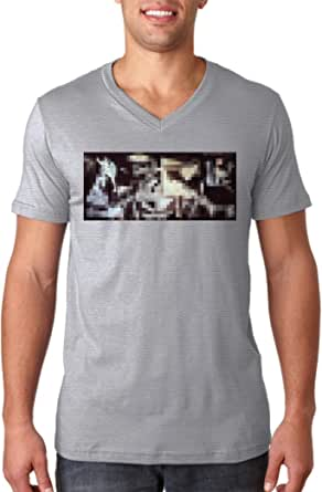 Pablo Picasso Guernica Pixel camiseta Men s V-Neck camiseta ...