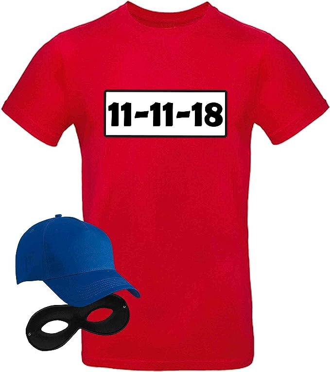 T Shirt Panzerknacker Kostum Set Wunschnummer Cap Maske Karneval