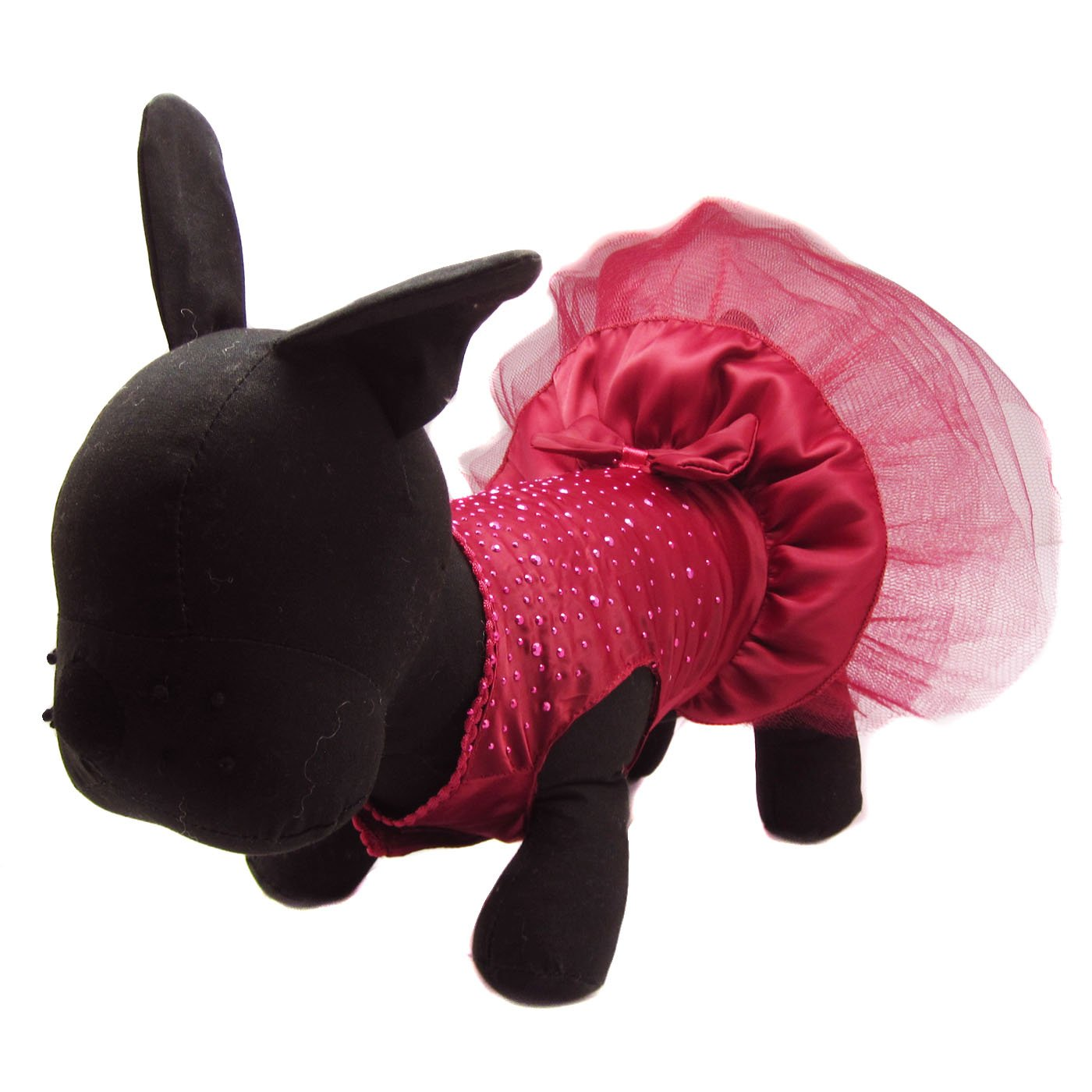 Medium Alfie Pet by Petoga Couture Shirley Tutu Party Dress color  Burdundy, Size  Medium