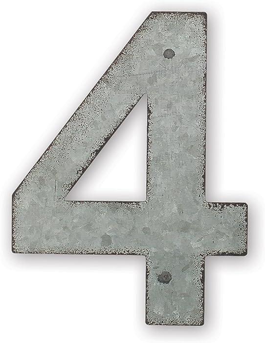 Sunset Vista Design Studios Magnetic Sign 4-Inch Metal Address Tile, Number 4