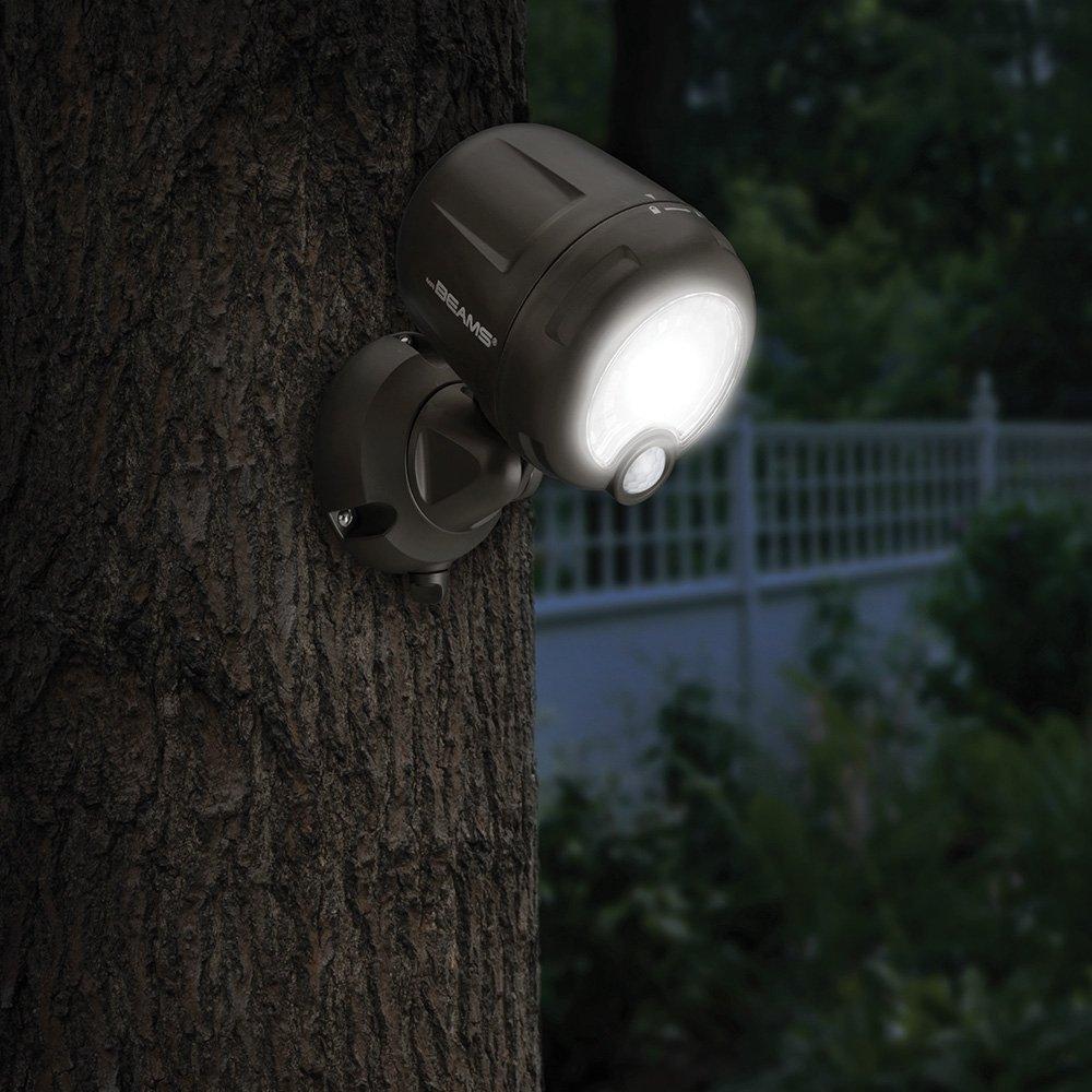 LED de 200/l/úmenes inal/ámbrica Blanco marr/ón para exteriores pl/ástico Mr Beams L/ámpara con sensor de movimiento activado MB360XT BRN 02 01 pl/ástico funciona con pilas Pack de 2 juego de 2