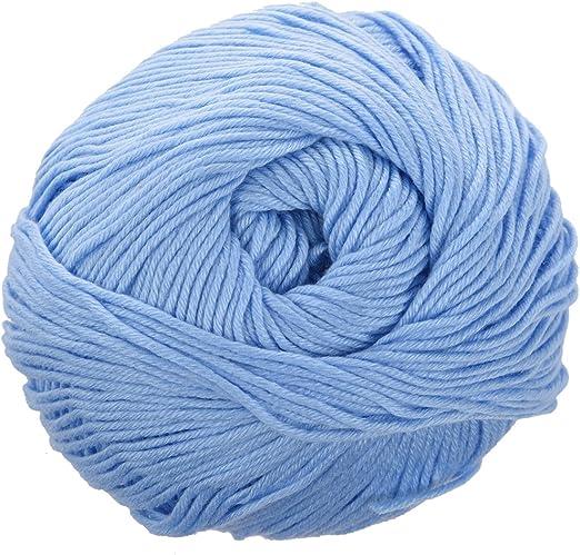 SODIAL(R) 50g Tencel Hilo de algodon de bambu para bebe (Azul ...