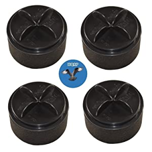 HQRP 4-Pack Filter Set for Bissell Easy Vac 3130, 3130H, 31305, 31306, 31309, 31303, 31302, 31301, 31304, 31308 Vacuum Cleaner, Inner & Outer Circular Filters Coaster