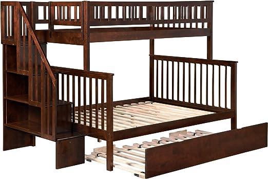 Atlantic Furniture Woodland - Cama para escaleras con UTDL: Amazon.es: Juguetes y juegos