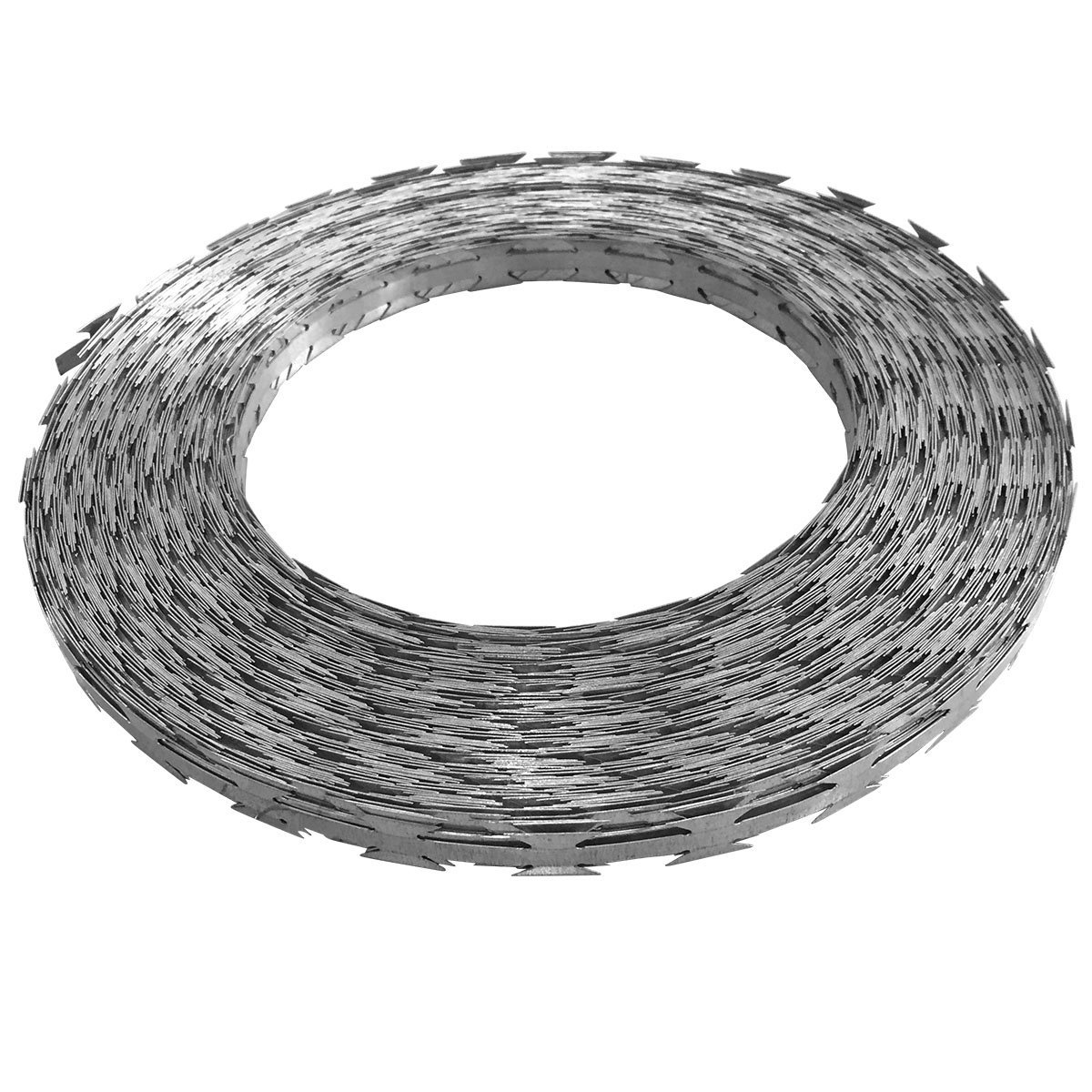 vidaXL Razor Wire 100m Coiled Security Barb Fence with Plastic ...