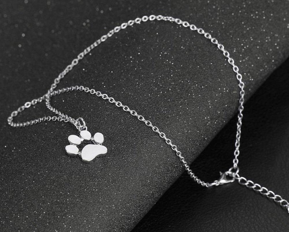 Wicemoon Animal Pieds de griffe de chat collier en alliage de zinc empreintes Collier Creative personnalit/é Collier Cadeau pour fille