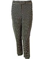 Anne Klein Women's Slim Leg Ribbon Stitch Dress Pants