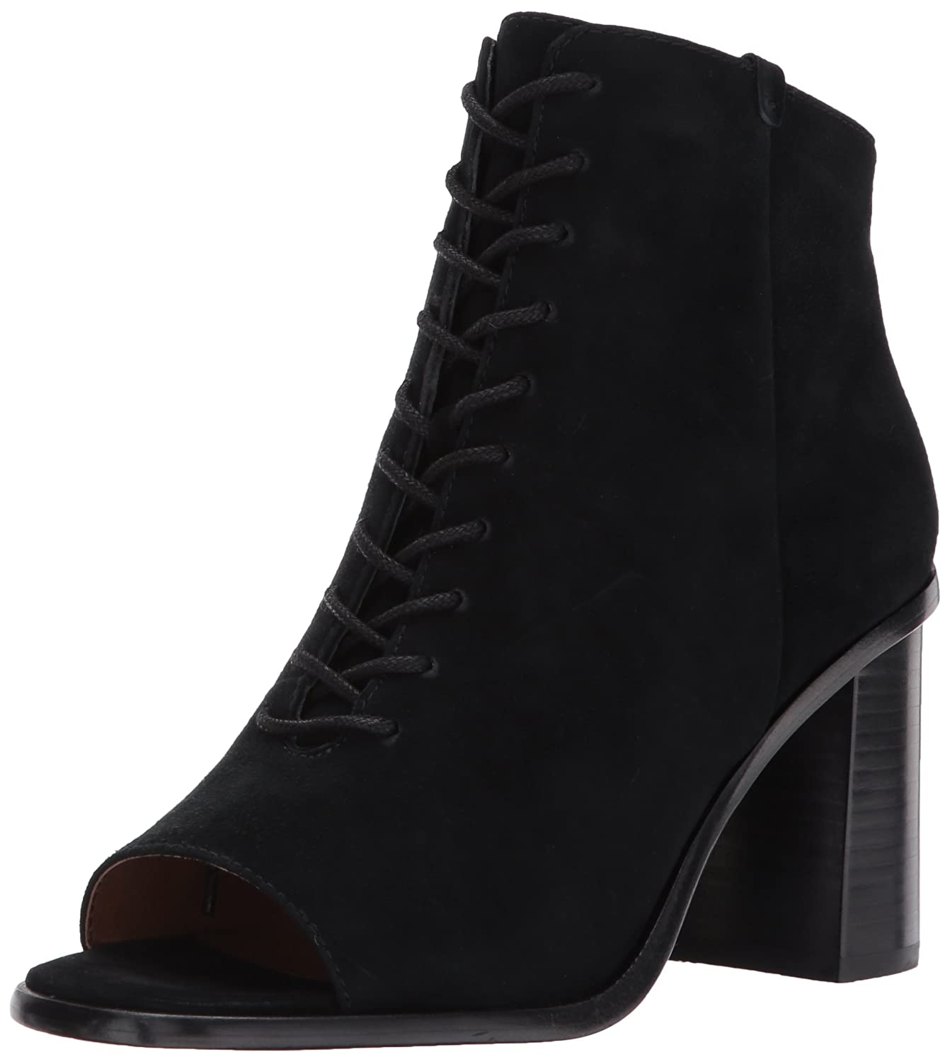 FRYE Women's Amy Peep Lace Boot B01MS687QJ 7 B(M) US|Black Suede